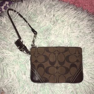REAL Coach Small Wristlet